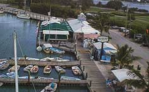 Sombrero Marina Photo showing boat slips and Dockside bar and grill