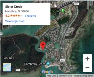 Approach Map Via Sister Creek
