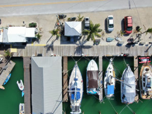 Aerial Picture looking down on Sombrero Marina